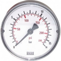 Manometer 63mm RVS, 0-16...